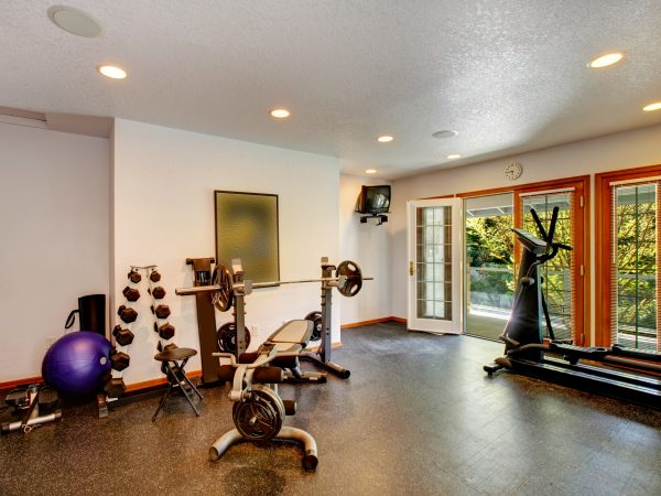 Home gym interior
