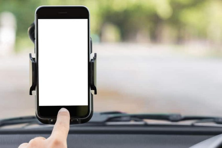 phone in a holder