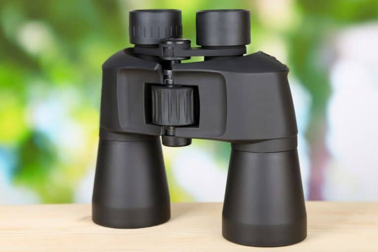 Binoculars on a table