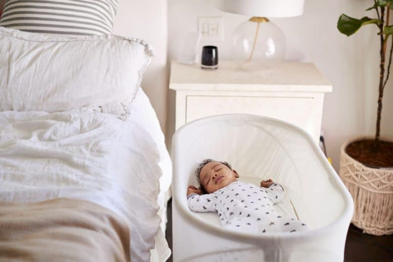 baby on a modern bedroom