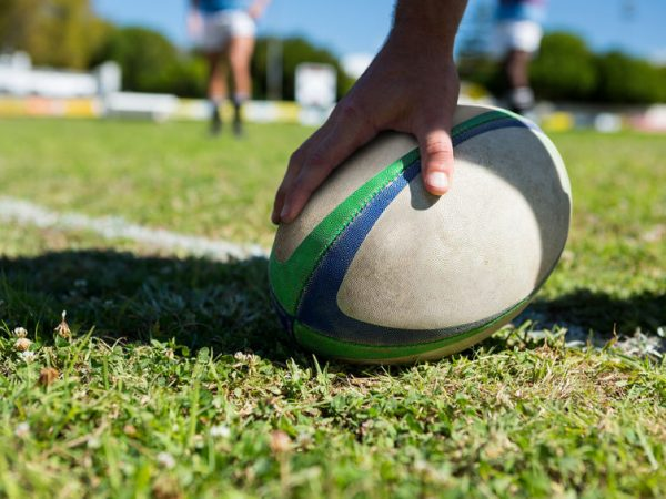Rugby balls are oval and contain an air chamber covered with several layers of synthetic material. (Source: Wavebreak Media Ltd: 79165180/ 123rf.com)