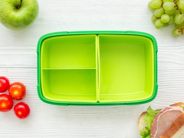 A green lunch box